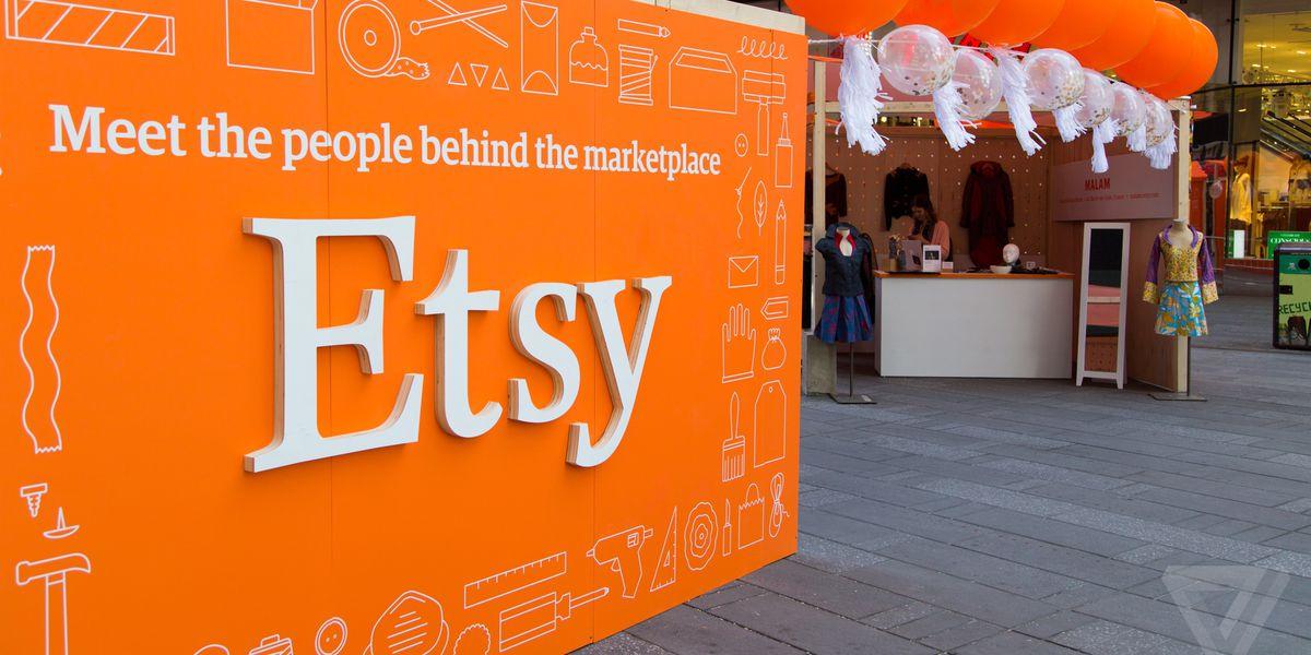 etsy logo on a wall