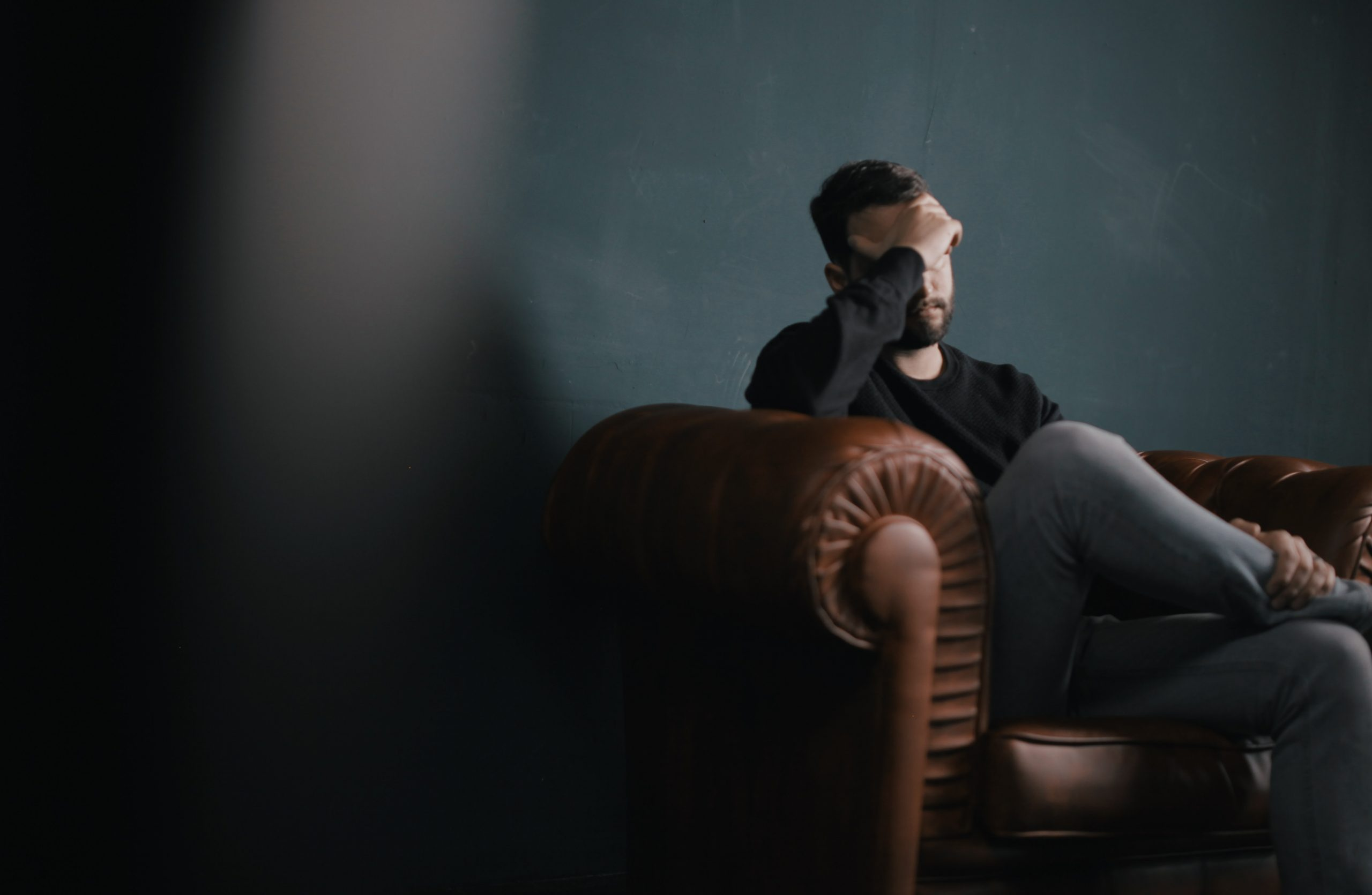 a man affected by emotional investing